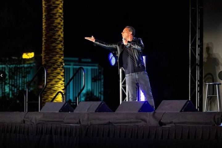 Sebastian Maniscalco performs at Wynn Las Vegas' Event Lawn at its outdoor Event Pavilion on Fr ...