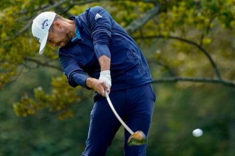 Xander Schauffele, of the United States, plays his shot from the second tee during the final ro ...