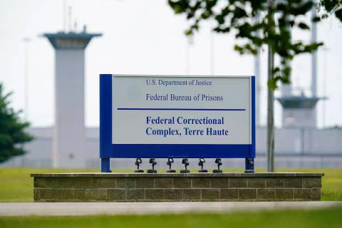 In this Aug. 28, 2020, file photo shows the federal prison complex in Terre Haute, Ind. (AP Ph ...