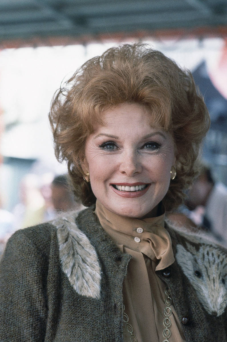 FILE - In this Sept. 28, 1981 file photo, Actress Rhonda Fleming poses for a photo in Hollywood ...