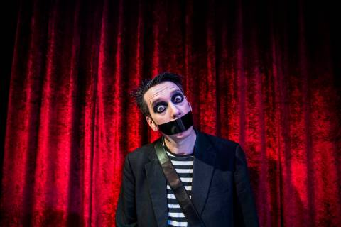 Sam Wills, aka Tape Face, an America's Got Talent Season 11 finalist, recently started his resi ...