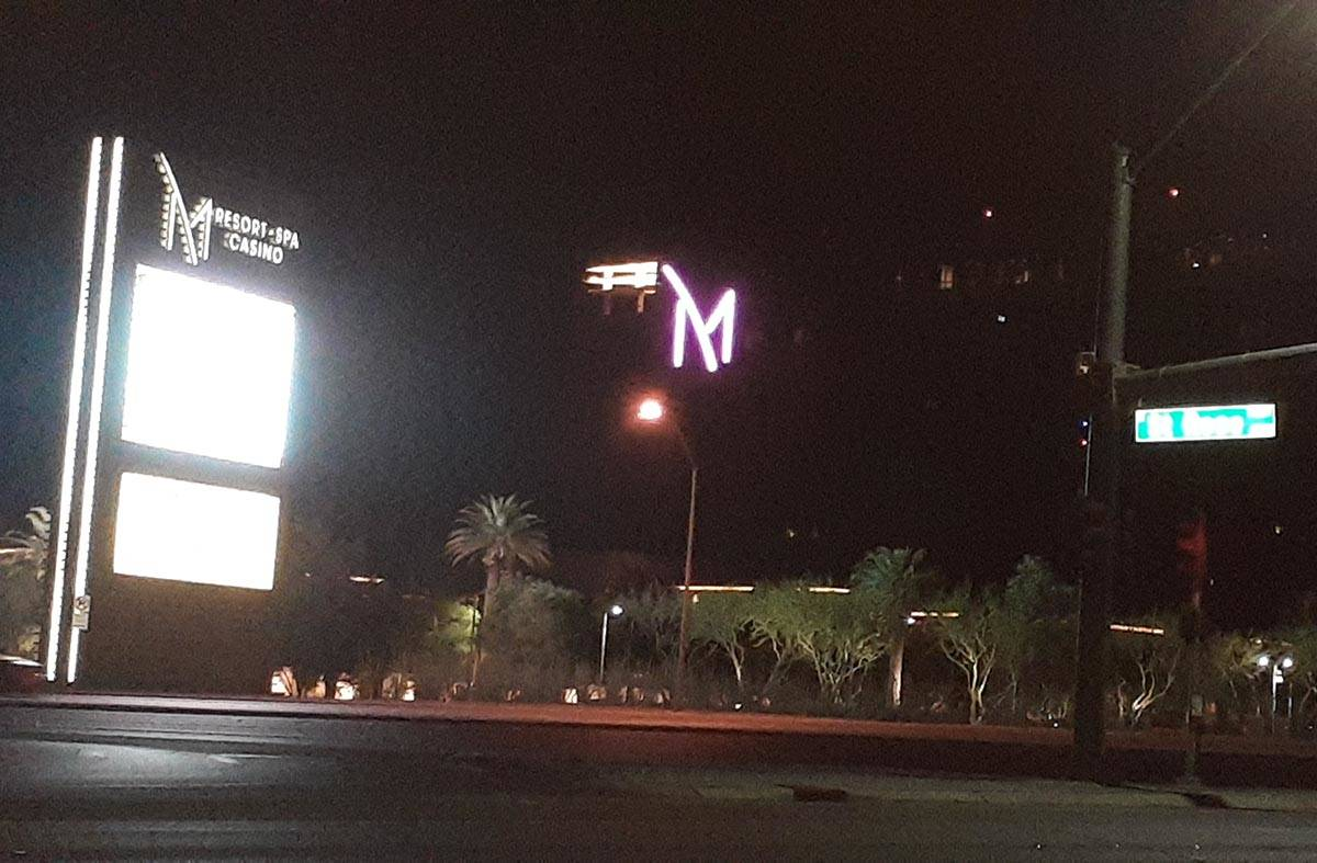 Police detained a person of interest as he exited the M Resort in Henderson late Monday, Oct. 1 ...