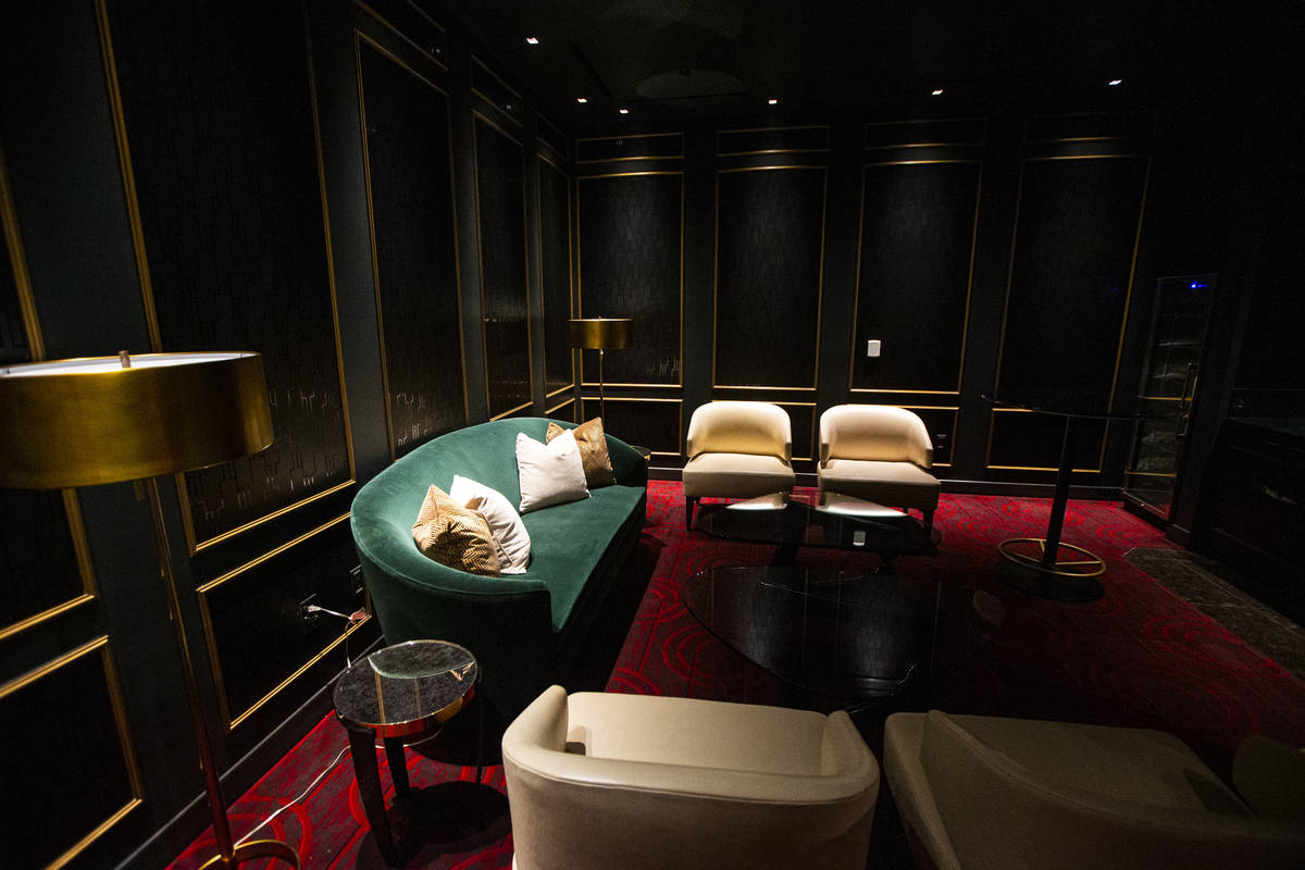 A private room inside the high limit gaming area during a tour of Circa, the first from-the-gro ...