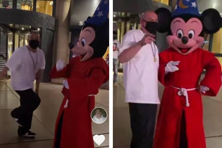 Viral TikTok phenomenon Nathan Apodaca, aka @420doggface208 (left), is shown on the Las Vegas S ...