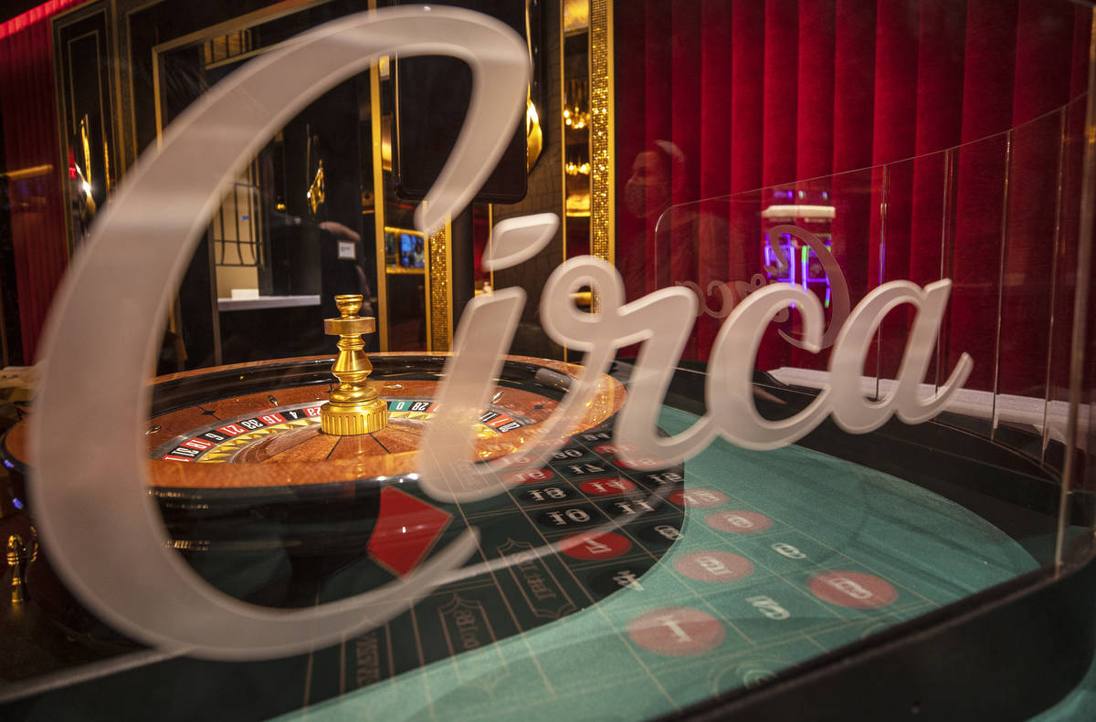 The roulette table in the high limit gaming area at Circa on Monday, Oct. 19, 2020, in Las Vega ...