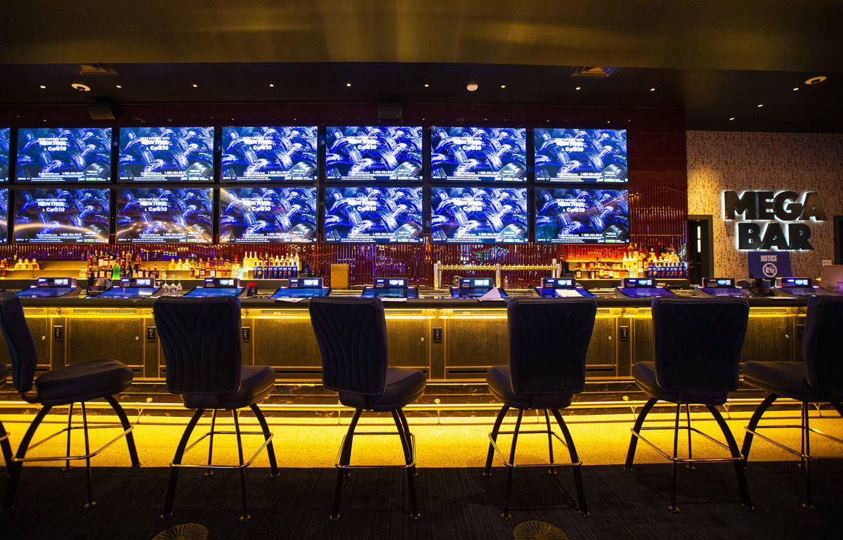 A partial view of the Mega Bar is seen during a tour of Circa, the first from-the-ground-up cas ...