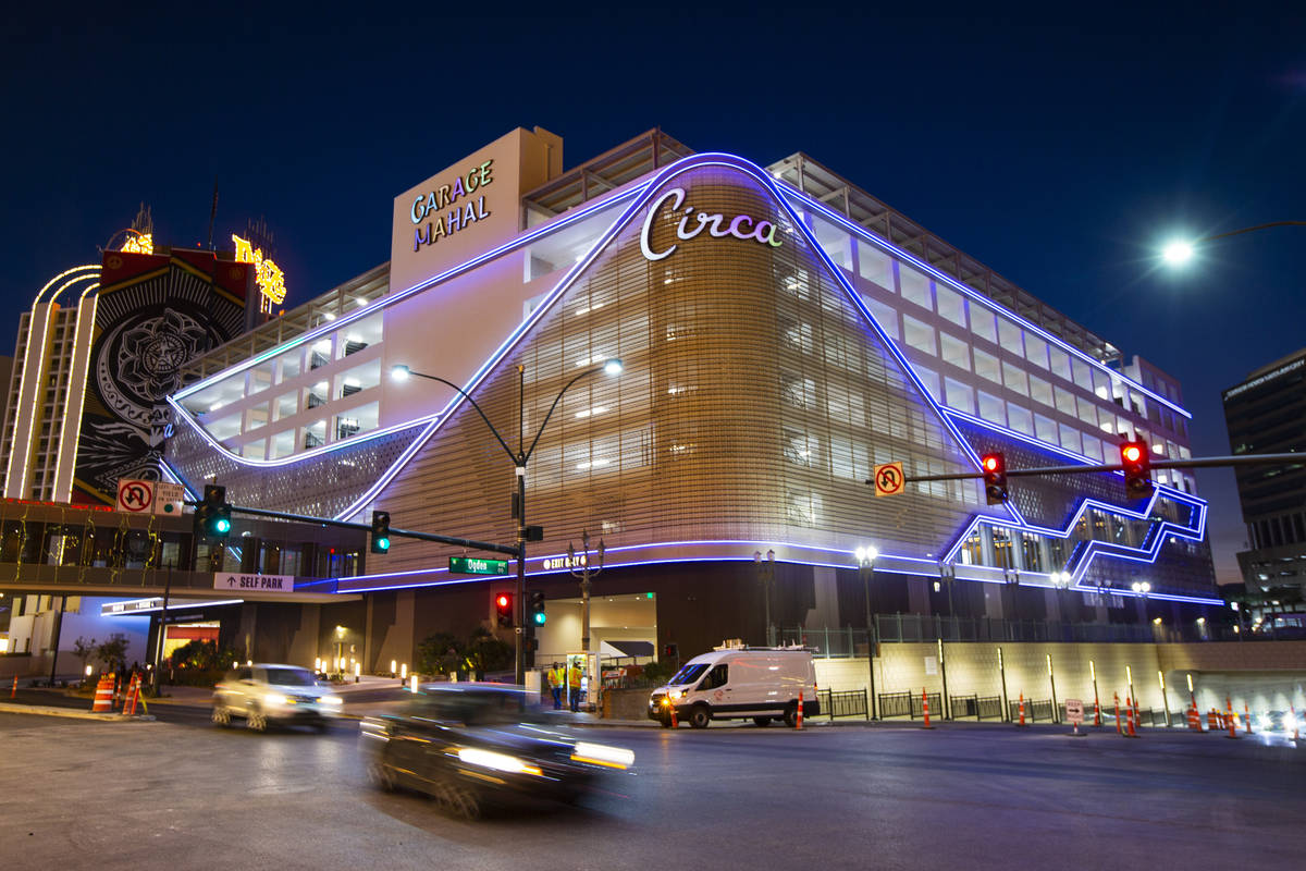 Garage Mahal at Circa, the first from-the-ground-up casino built in downtown Las Vegas in 40 ye ...