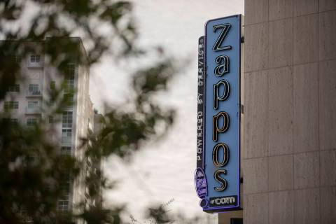 Zappos office space is seen in downtown Las Vegas on Thursday, Oct. 8, 2020. (Elizabeth Brumley ...