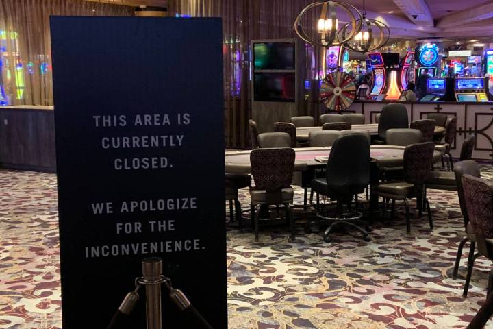 The Excalibur poker room has been closed since the shutdown caused by the coronavirus pandemic. ...