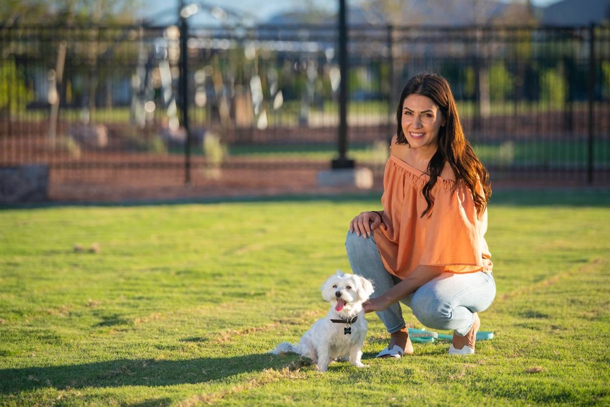 Residents can walk their dogs on Cadence's numerous trails, which connect to the Las Vegas Wash ...