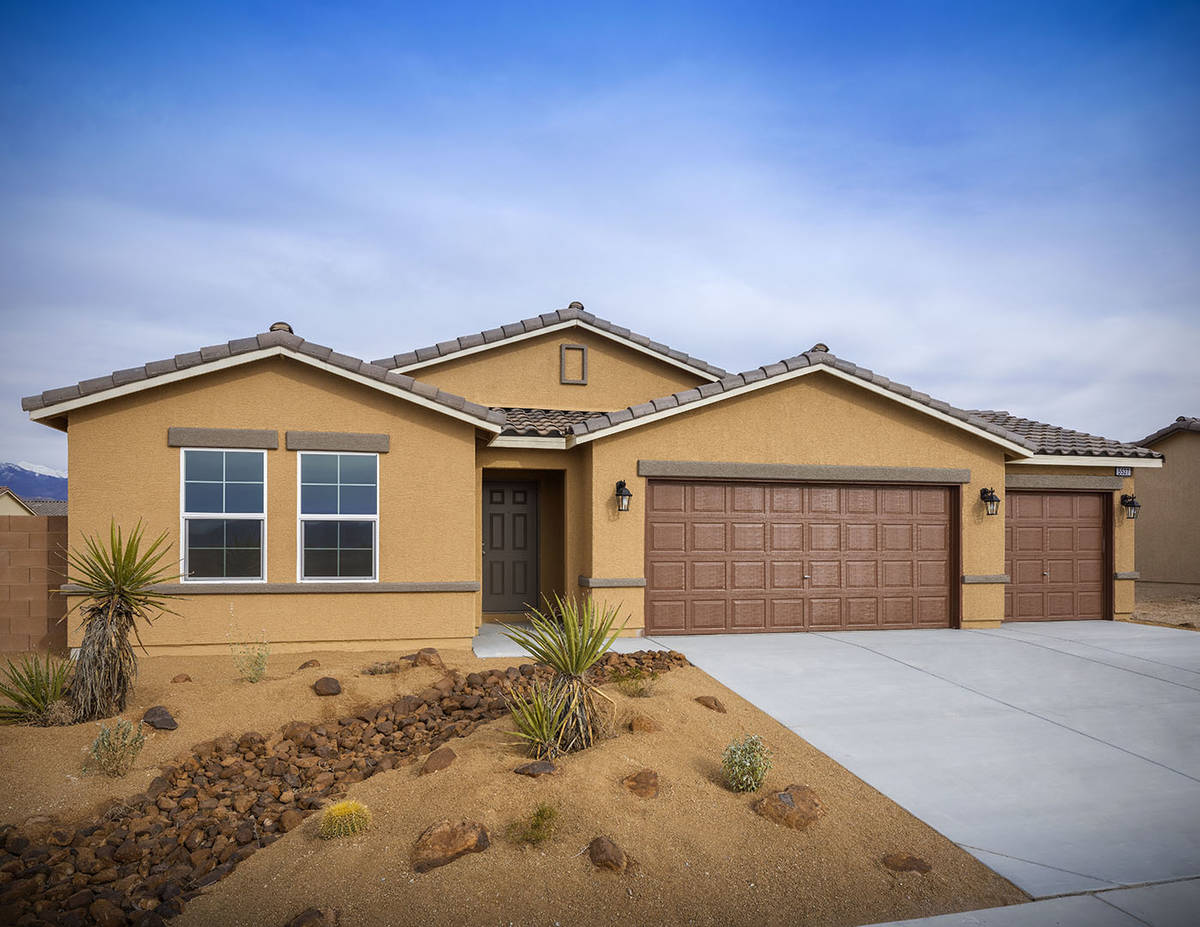 Burson Ranch and Burson Enclave are in Pahrump, about a 45-minute drive from Las Vegas. The hom ...