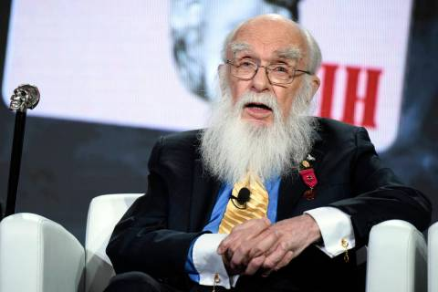 FILE - In this Monday, Jan. 18, 2016, file photo, magician James Randi participates in the &quo ...