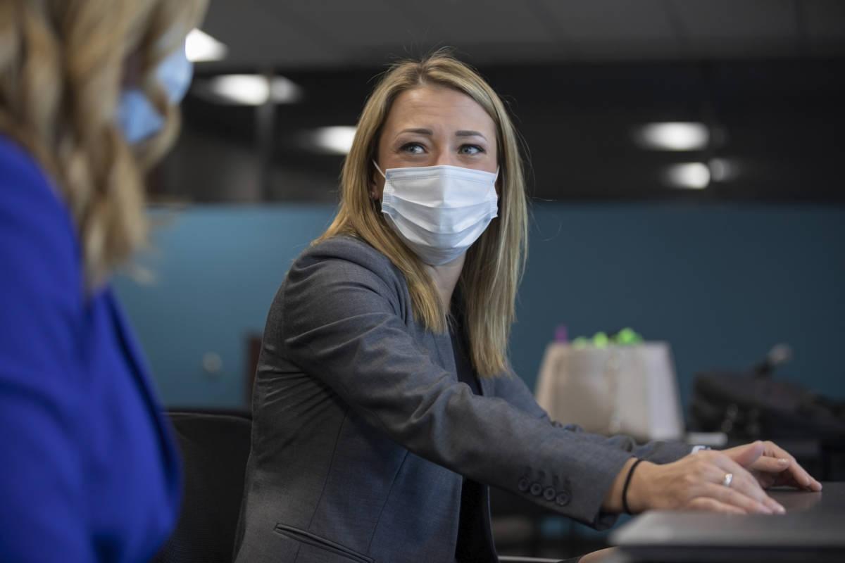 Assistant Federal Public Defender Erin Gettel is interviewed on Friday, Oct. 23, 2020, in Las V ...