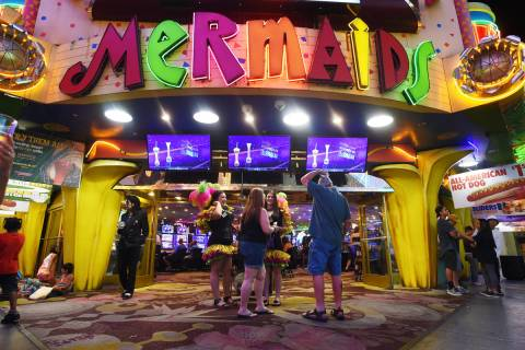 Mermaids Casino is seen at the Fremont Street Experience Saturday, June 25, 2016. Mermaids Casi ...