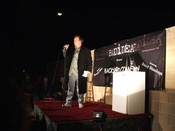 Doug Stanhope once performed in the Henderson backyard of comedian Brandt Tobler, who had to cr ...