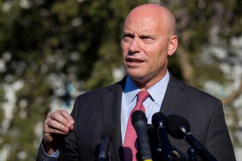 Marc Short, chief of staff for Vice President Mike Pence, speaks with reporters at the White Ho ...
