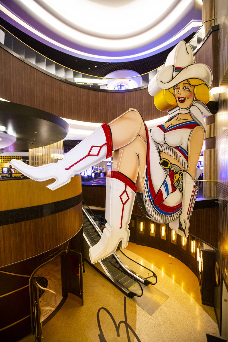 A view of Vegas Vickie during a tour of Circa, the first from-the-ground-up casino built in dow ...