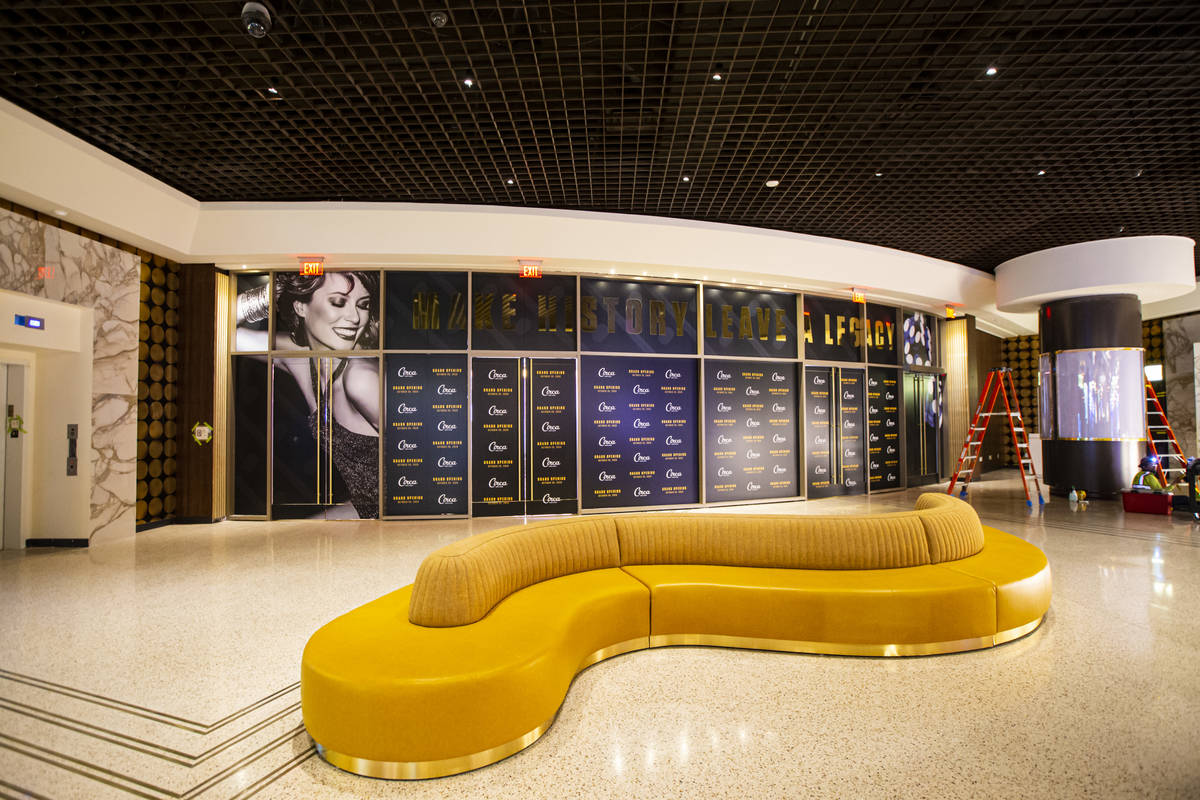 Seating at the lobby is seen during a tour of Circa, the first from-the-ground-up casino built ...