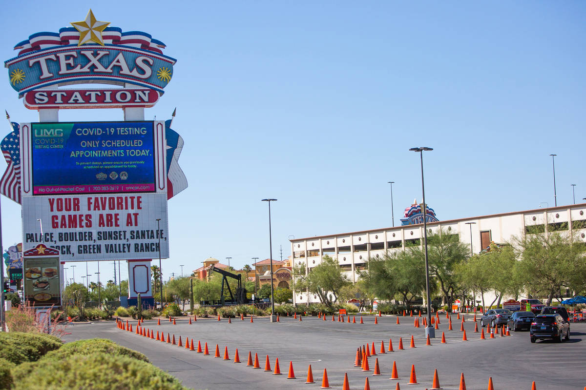 The Texas Station in Las Vegas is seen in this July 16, 2020, file photo. (Chris Day/Las Vegas ...