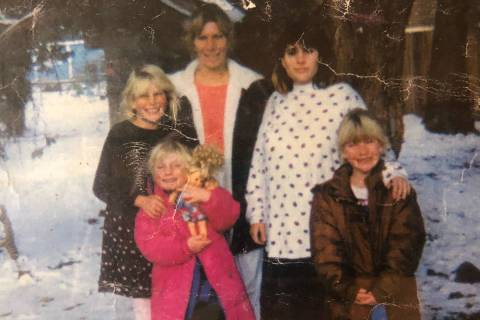 Sara Keynejad, back right, with her mother, middle, and sisters. (Courtesy of Rachael Vosika)