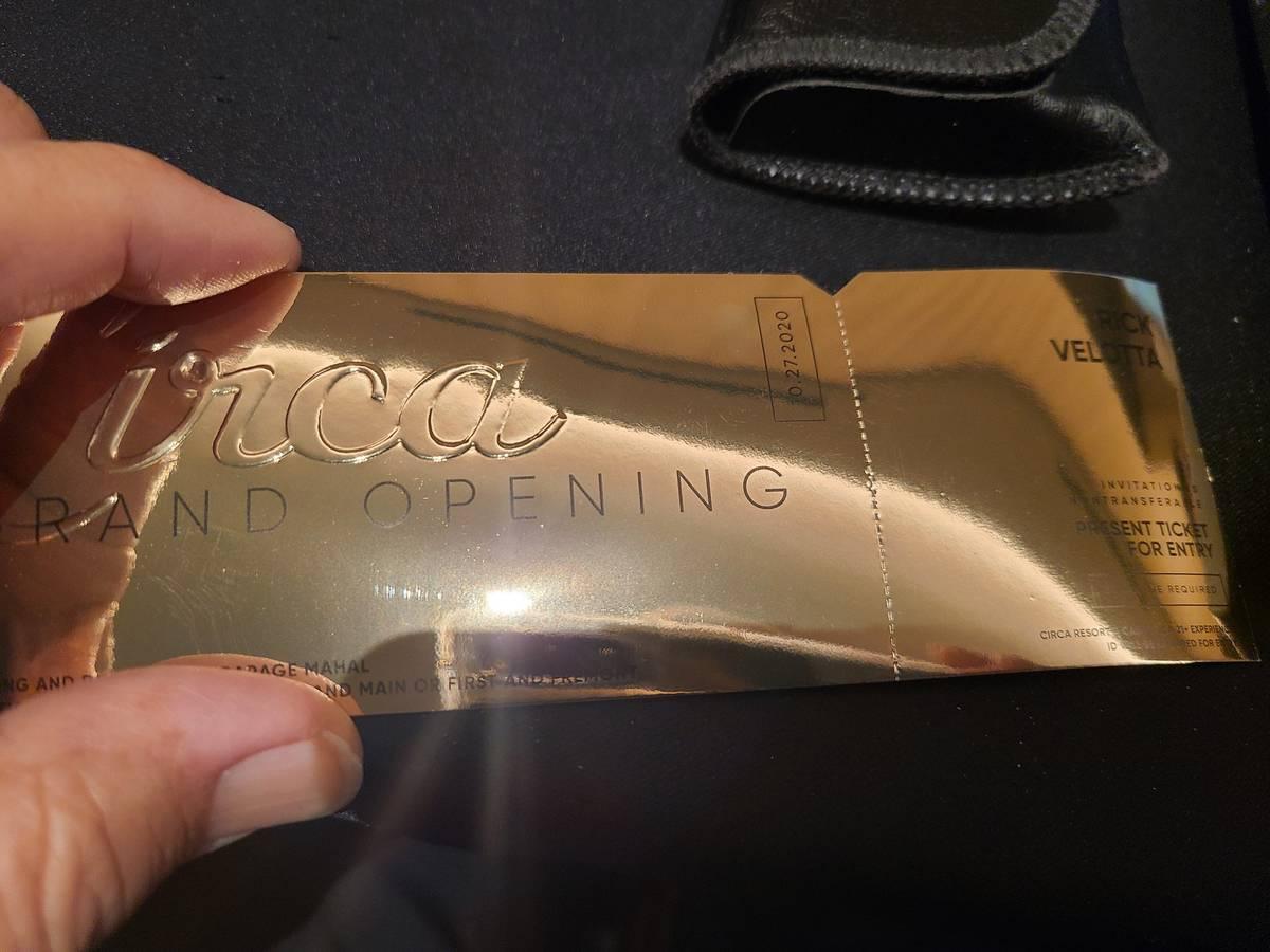 A golden ticket. (Rick Velotta / Las Vegas Review-Journal)