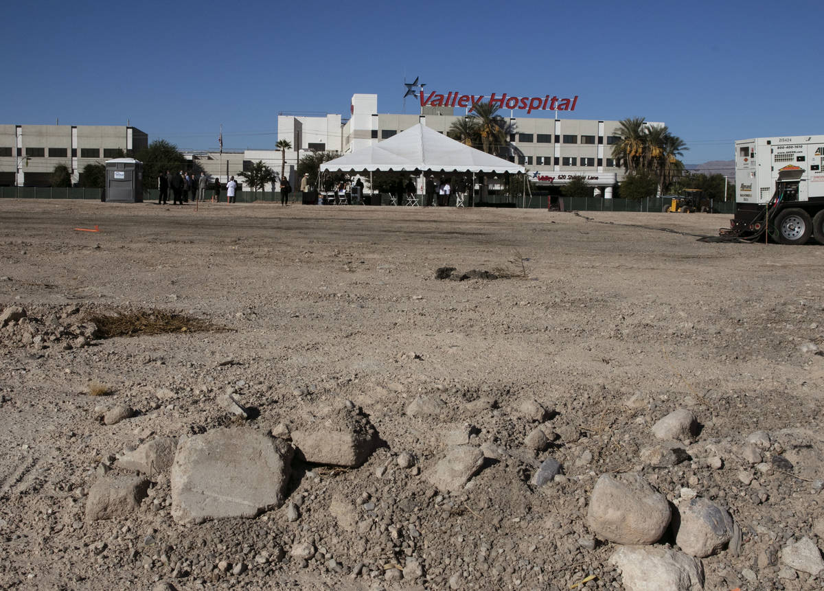 A construction site of the future UNLV School of Medicine's medical education building, is phot ...