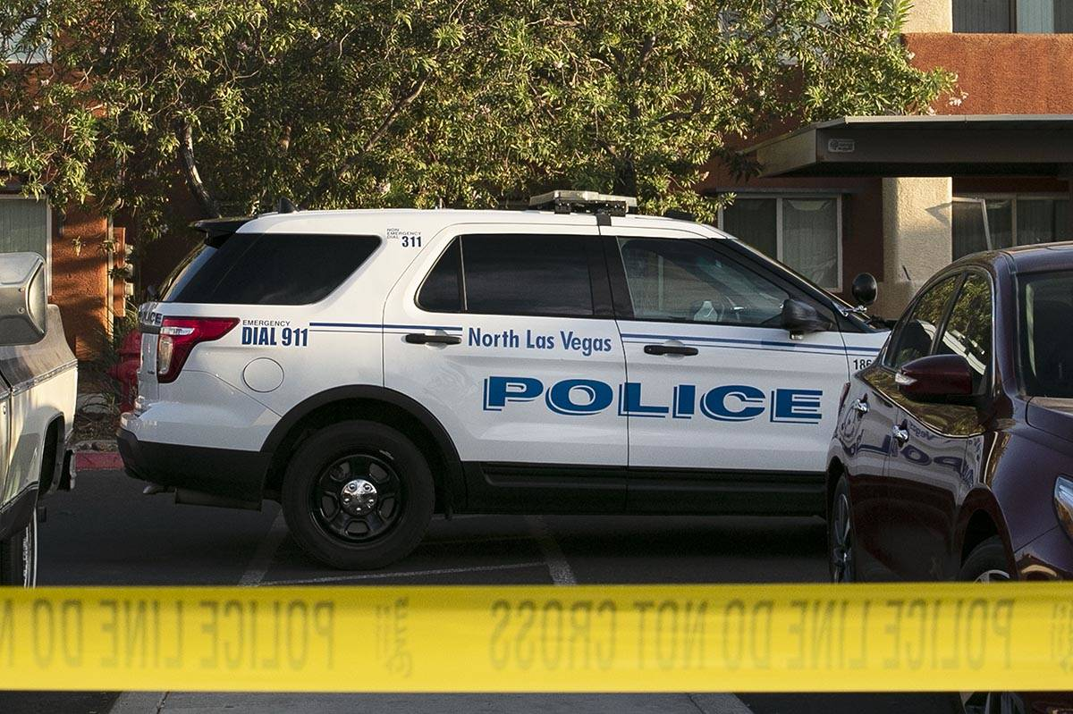 North Las Vegas police is investigating after a man was found slain and a woman then fatally sh ...