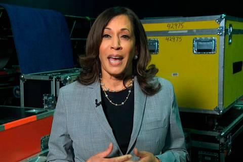 Sen. Kamala Harris, D-Calif. (Democratic National Convention via AP)