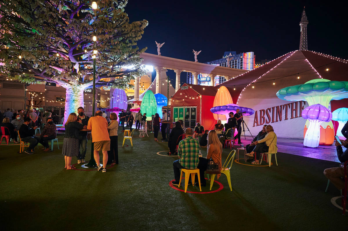 """Green Fairy Garden is shown during the return of """"Absinthe"""" at Caesars Palace on Wednesday, Oct ..."""