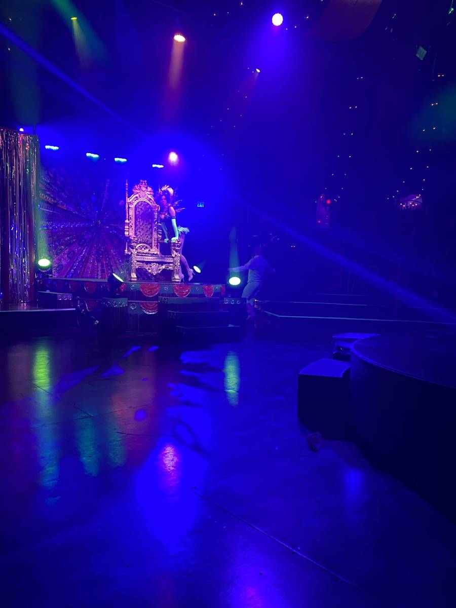 """The Spiegeltent stage setup is shown in the return of """"Absinthe"""" at Caesars Palace on Wednesday ..."""