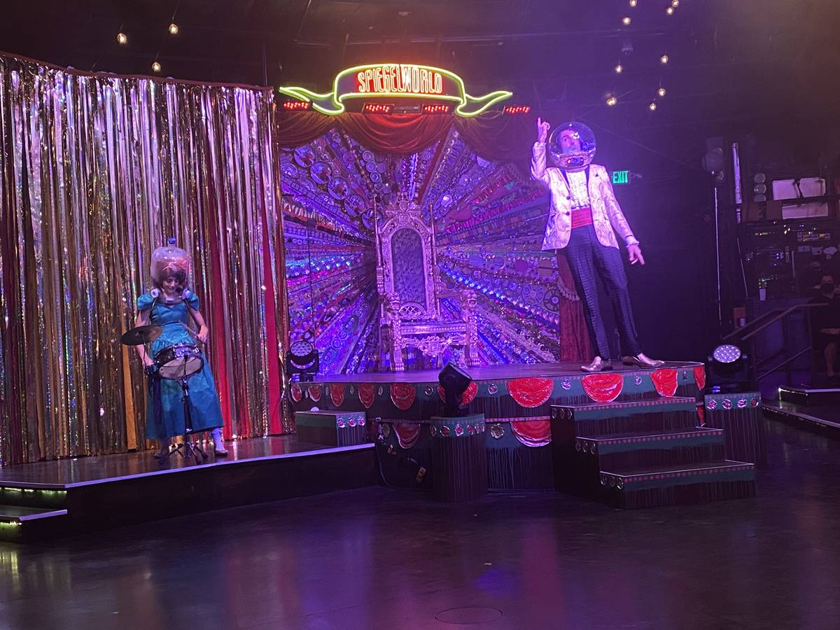 """The Gazillionaire and Penny Pibbets are shown in the return of """"Absinthe"""" at Caesars Palace on ..."""