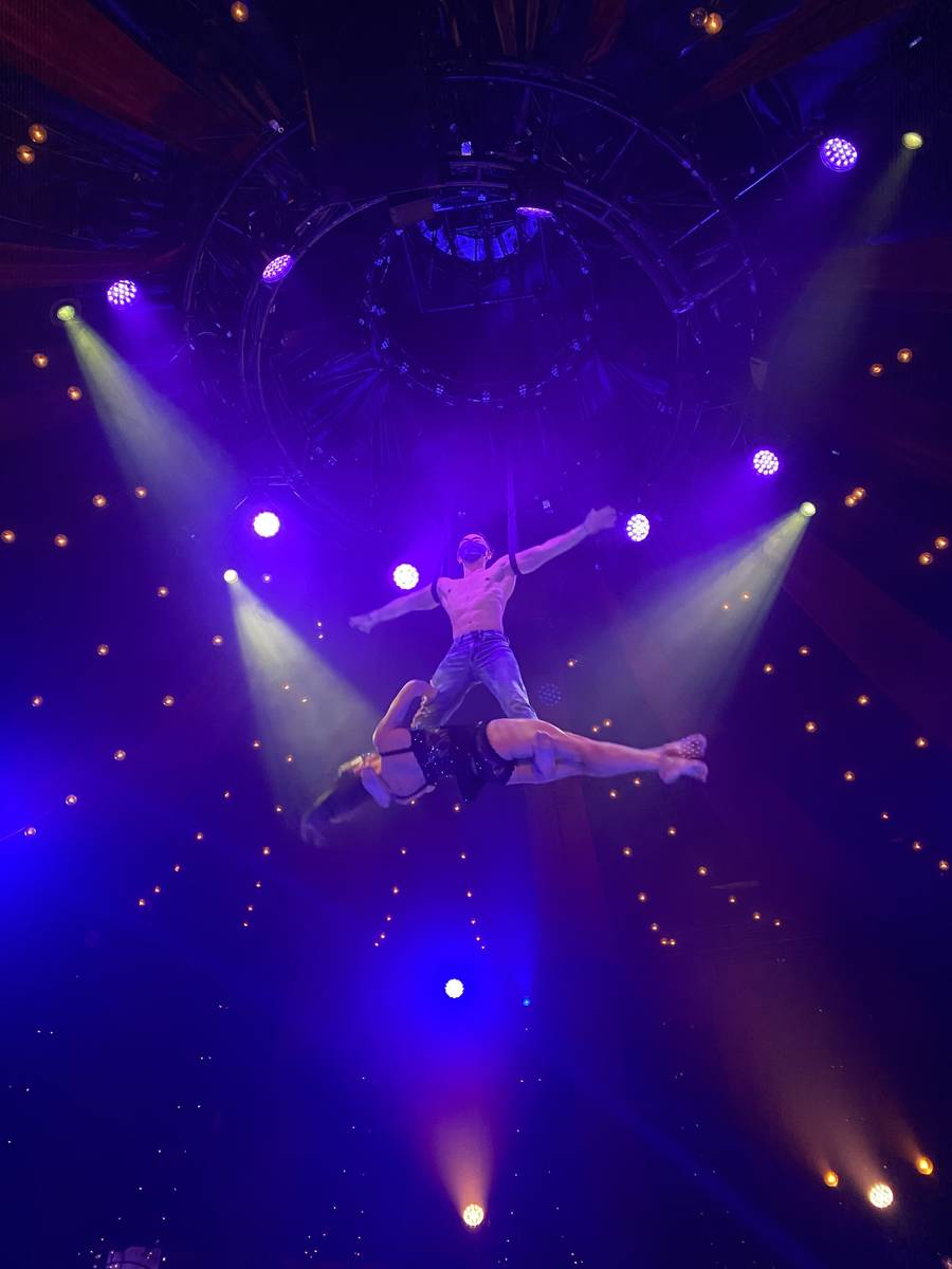 """Ming Fang and Genevieve Landry are shown in the return of """"Absinthe"""" at Caesars Palace on Wedne ..."""