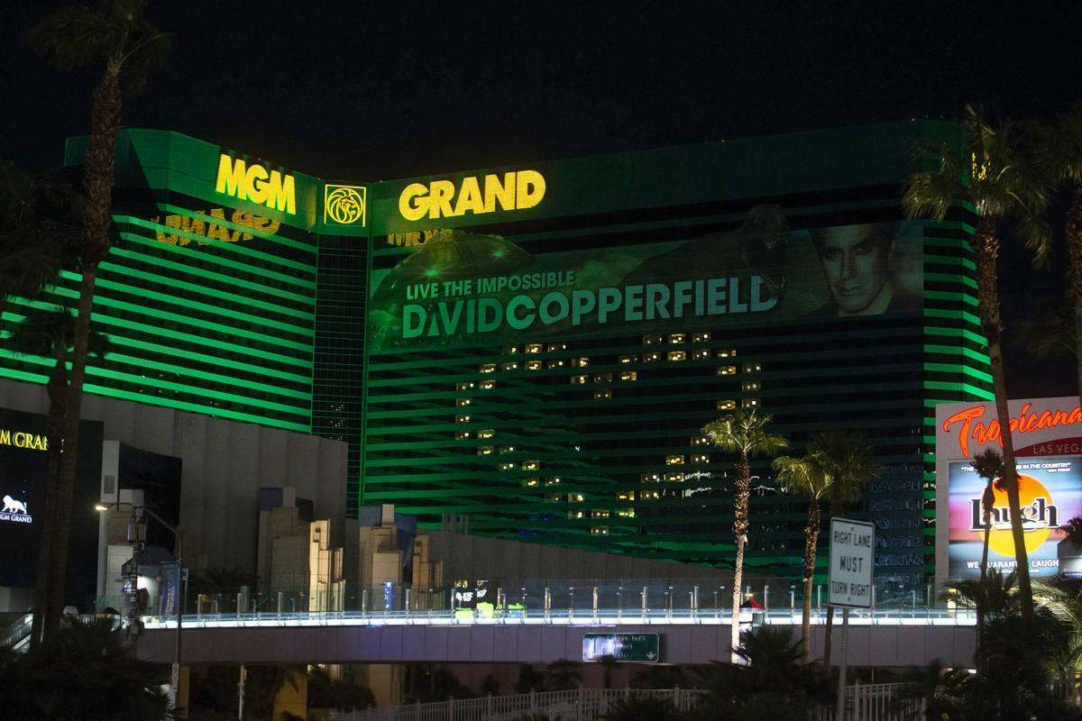The MGM Grand in Las Vegas is seen in this April 1, 2020, file photo. (Benjamin Hager/Las Vegas ...