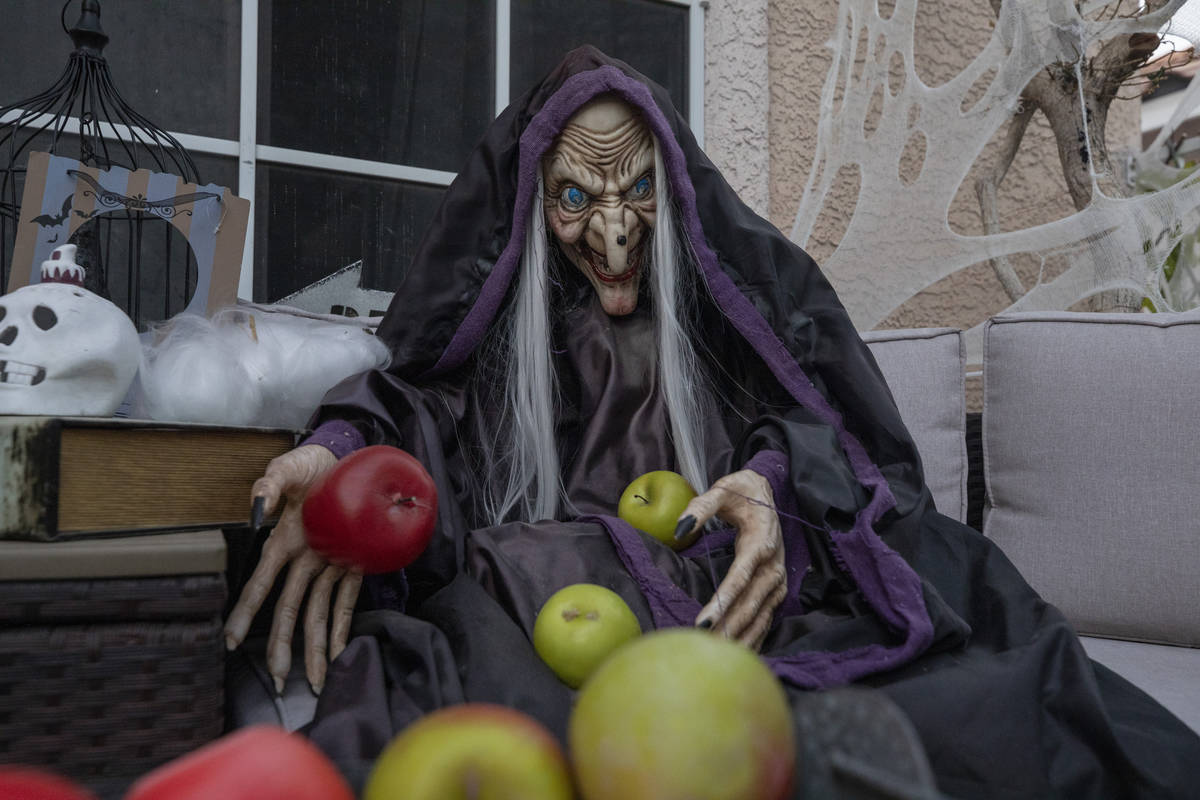 Halloween decorations are seen at the Garcia home that is decorated with inspiration from Disn ...