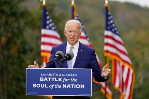 Democratic presidential candidate former Vice President Joe Biden speaks at Mountain Top Inn &a ...
