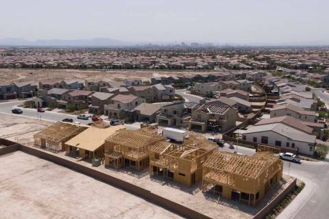 An aerial view of Larimar at The Villages at Tule Springs, a housing development near West Dorr ...