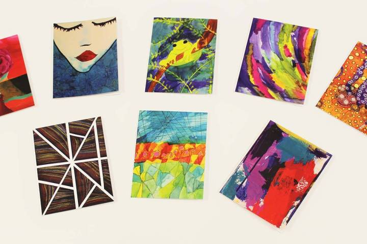 Blank greeting cards by artists in Opportunity Village's Fine & Performing Arts P ...