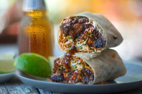 A Burnt Ends Burrito from BBQ Mexicana. (Peter Harasty)