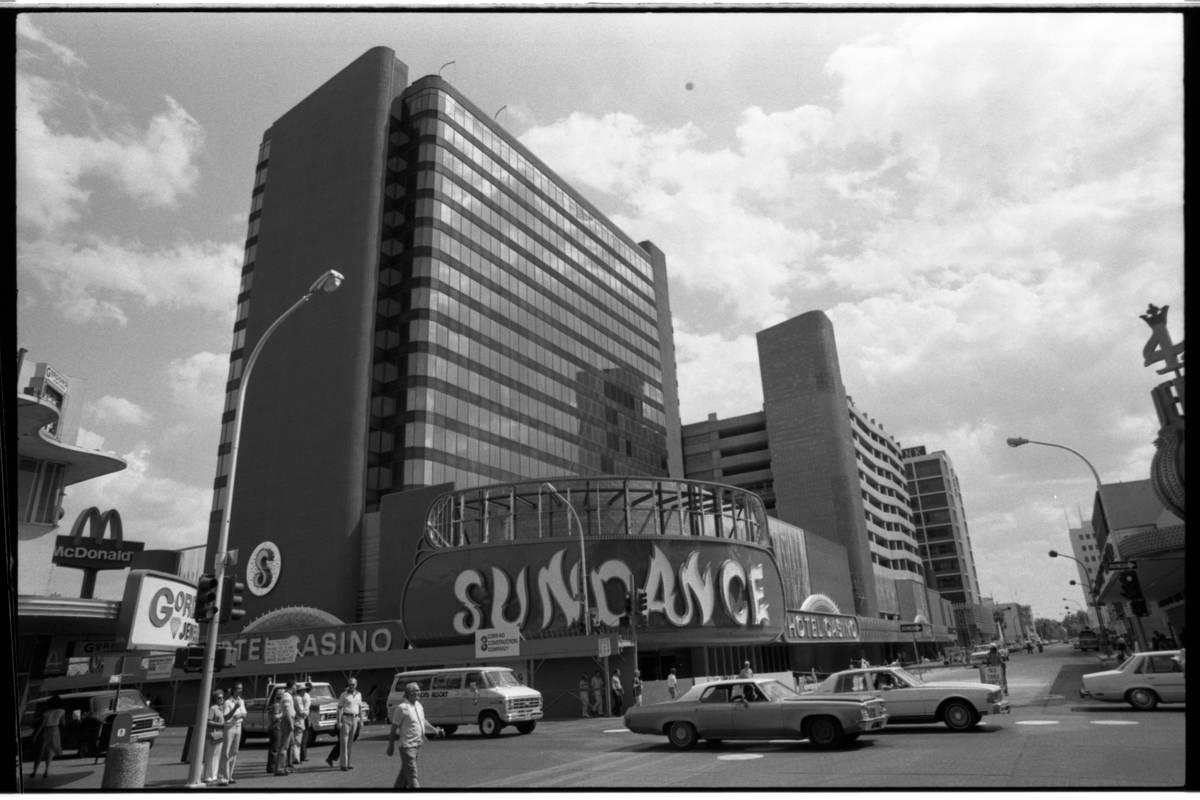 The Sundance hotel-casino is seen in 1980 in downtown Las Vegas. (Las Vegas Review-Journal file)