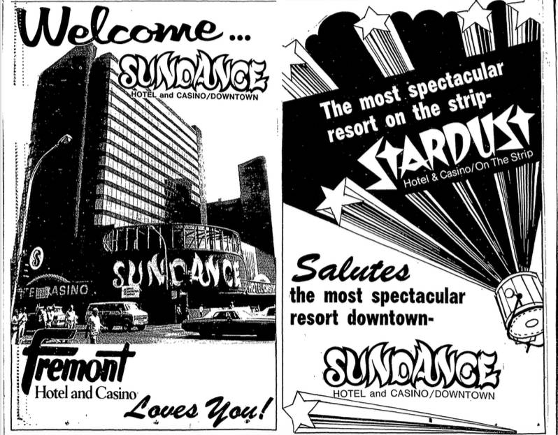 Side-by-side advertisements in the July 2, 1980 issue of the Las Vegas Review-Journal offer wel ...