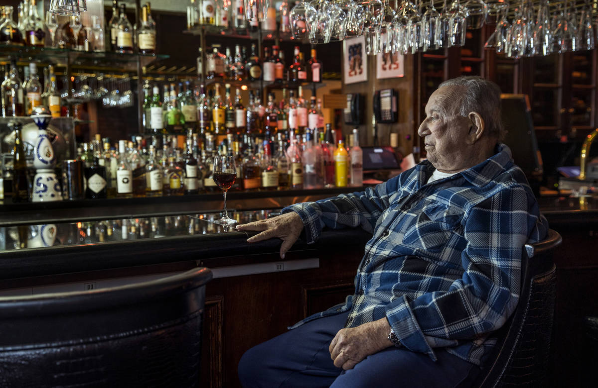 Piero's owner Freddie Glusman sits at the bar of his Las Vegas restaurant, which was used as th ...