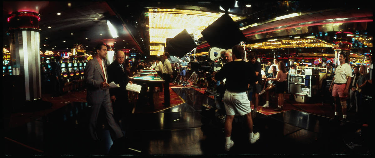 "Robert De Niro and Don Rickles are shown while filming ""Casino"" inside the Riviera. (Universal ..."