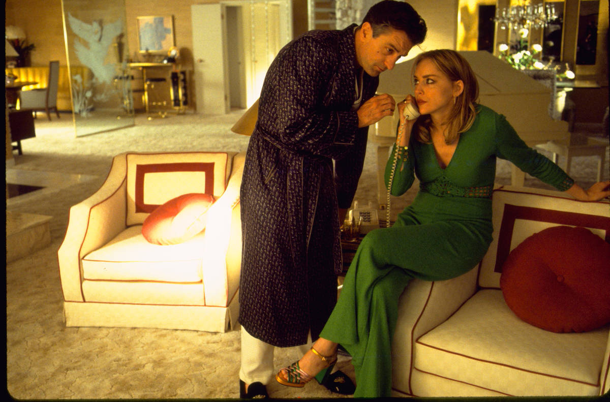 "Ginger (Sharon Stone) and Sam ""Ace"" Rothstein (Robert De Niro) in a scene from ""Casino."" The La ..."
