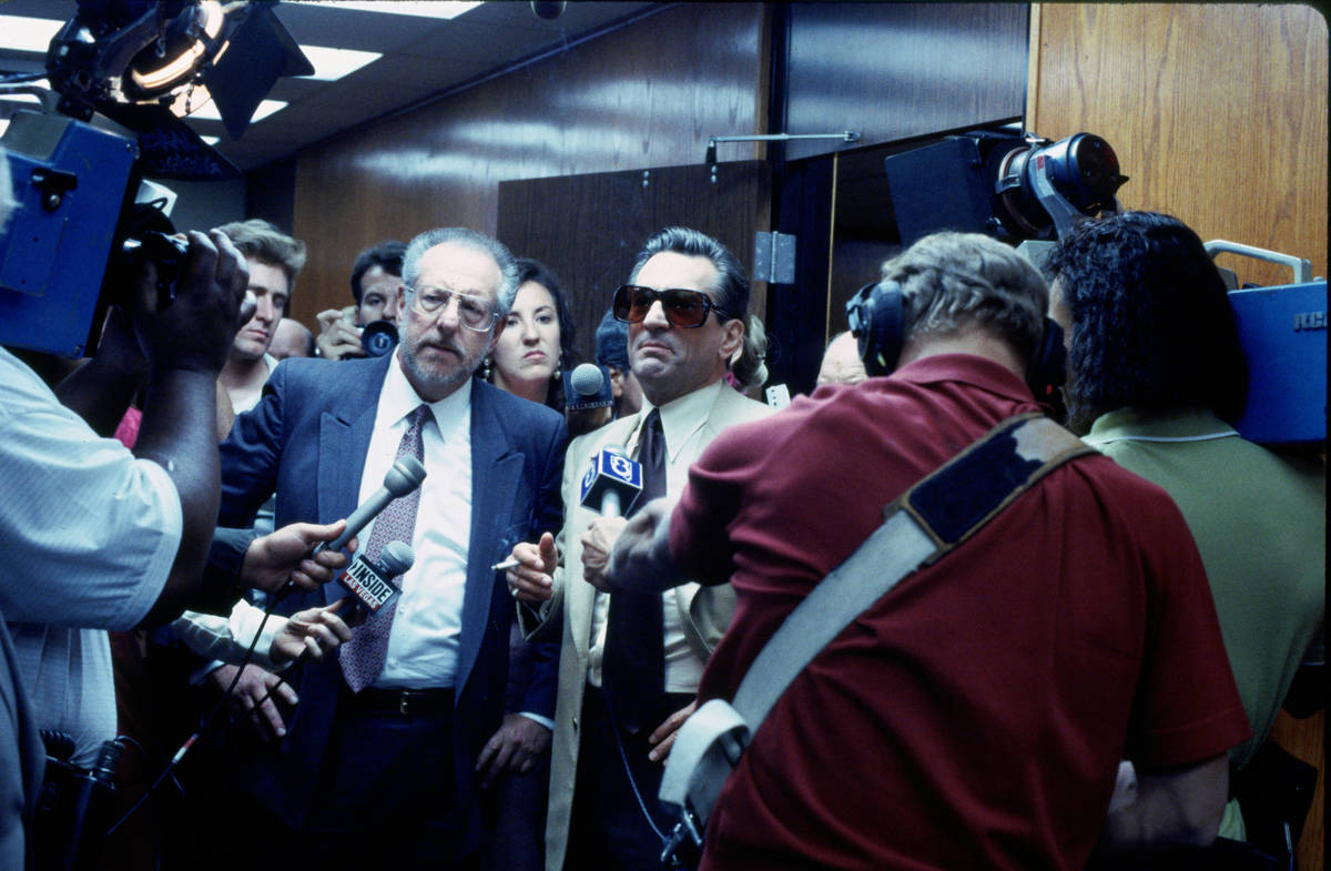 "Former Las Vegas Mayor Oscar Goodman, right, portrayed himself as the lawyer for Sam ""Ace"" Roth ..."