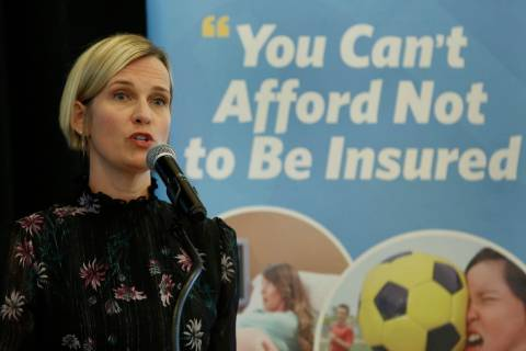 Heather Korbulic, executive director for the Silver State Health Insurance Exchange, spoke at t ...