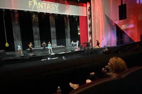"""""""Fantasy"""" producer Anita Mann directs a rehearsal of the show at Luxor Theater on Monday, Nov. ..."""