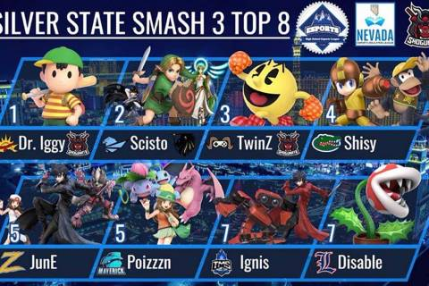 """Silver State Smash Top 8 results. (Jeremy """"Dr.Hex"""" Besitula)"""