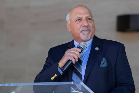 Las Vegas City Councilman Stavros Anthony speaks during the official opening ceremony for the n ...