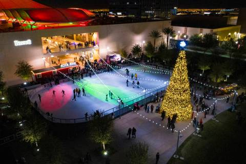 Rock Rink opens Nov. 13 at Downtown Summerlin to kick off the 2020 holiday season. New this yea ...