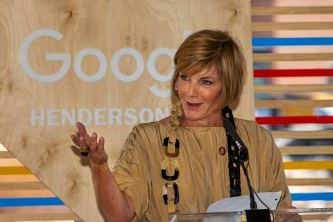Representative Susie Lee welcomes the added state revenue and growth in the area during a Googl ...